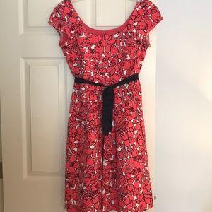 Worth A-Line Short Sleeve Floral Dress EUC